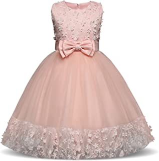 Flower Dress Girl Princess Costume Dresses Party Wear Tulle Kids Children Prom Gown Formal Dress 4 10 Years