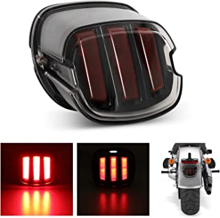 Tail Light LED Brake Running Lights, AAIWA Smoked Motorcycle Tail Light for Sportster Softail Dyna Road King Road Glide