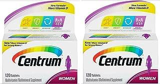 Centrum Women's Multivitamin, 120 Count (Pack of 2)