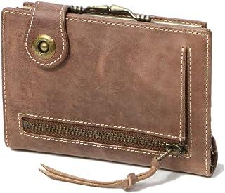 Ain Soph(アインソフ) オールドレザーのがまぐち付きスマート二つ折り財布 DA579-HP