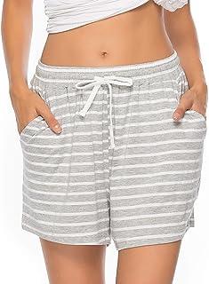 Vlazom Pantaloncini Donna Estivi 95% Cotone Morbido & Traspirante, può Essere Usato Come Pantaloni da Pigiama da Donna per...