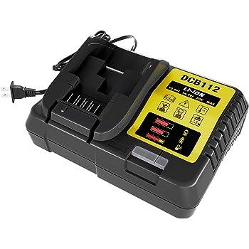 DCB112 12V 20V MAX Lithium Ion Replacement Battery Charger for DCB206 DCB205 DCB204 DCB203 DCB201 DCB120 DCB127, Replace for DCB107 DCB105 DCB101 DCB115