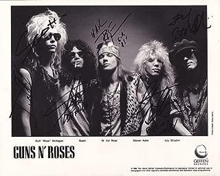 Guns N' Roses full rock band reprint signed promo photo RP Axl Rose Slash