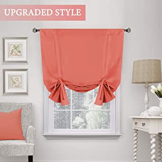 H.VERSAILTEX Blackout Curtain for Small Window, Thermal Insulated Tie Up Shade/Rod Pocket Curtain Panel - 42