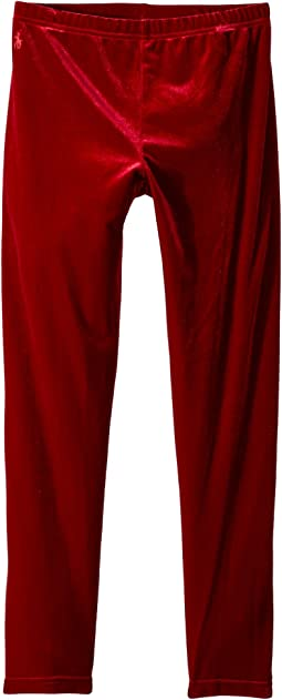 Polo Ralph Lauren Kids - Stretch Velvet Leggings (Little Kids/Big Kids)