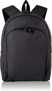 BOSS Green Men's Pixel Smooth Matte Backpack, Navy, ONE SIZE
