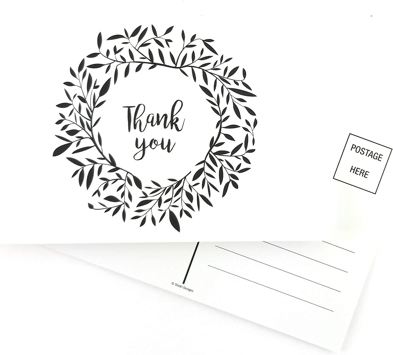 Chicago Mall Think Designs Thank You Postcards Style Greeting N Blank - Fees free!! Back
