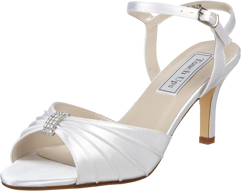 Touch Ups Women's Asher Ankle Wrap Sandal Silver Metallic