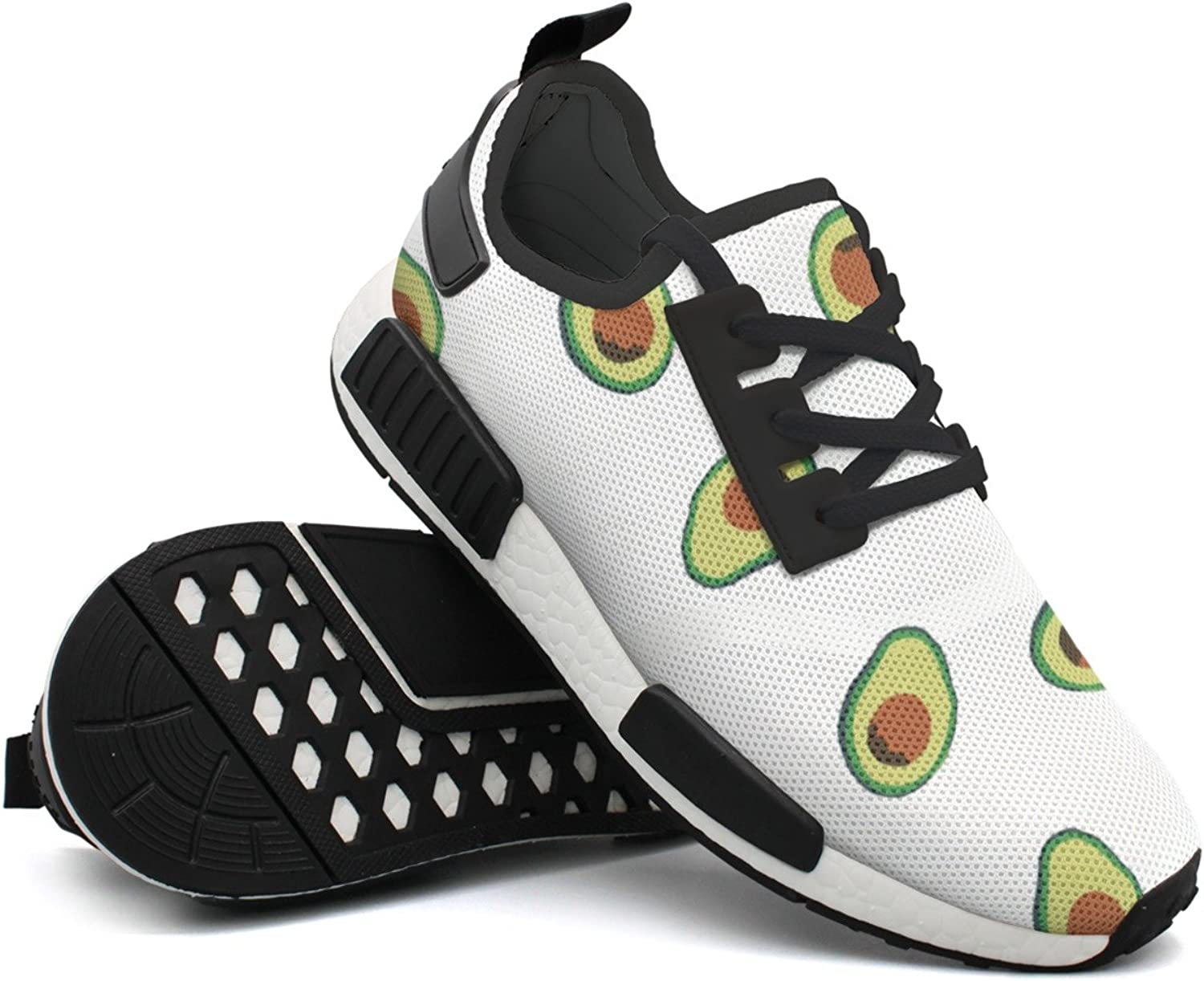 Fashion Sneaker For Men Cute Avocado colorful Lightweight Breathable Mesh Mens Running shoes