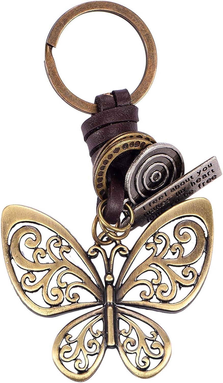 SWJEWEL Bling Butterfly Keychain for Women Car Keys Handbag Purse Pendant Rhinestone Charm Key Ring Bulk Cute Decoration