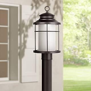 Warburton Outdoor Post Light Fixture LED Black 16 1/2