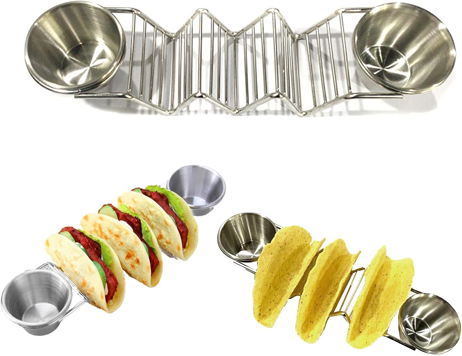 MTAPH Taco Holder Stand Stainless Rack With Sa Cheap bargain Steel In a popularity Shell
