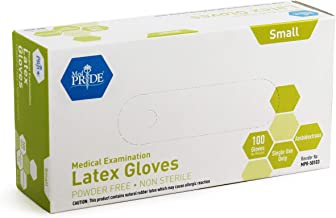 Medpride Medical Examination Latex Gloves| 5 mil Thick, Powder-Free, Non-Sterile, Heavy Duty Exam Gloves