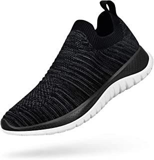 Shoes for Women Slip on Sneakers Ultra Light Knitted Breathable Casual Tennis Shoes