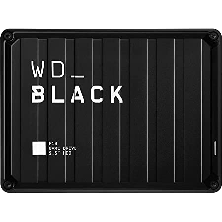WD_BLACK 2TB P10 Game Drive - Portable External Hard Drive HDD, Compatible with Playstation, Xbox, PC, & Mac - WDBA2W0020BBK-WESN