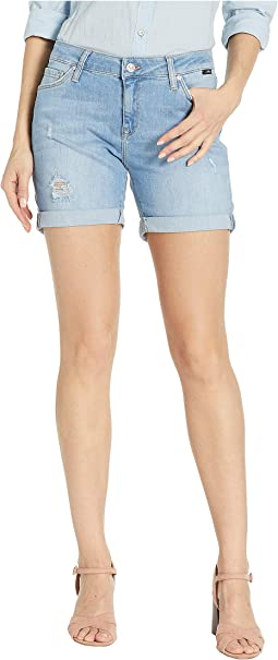 Pixie Boyfriend Shorts in Light Ripped Vintage