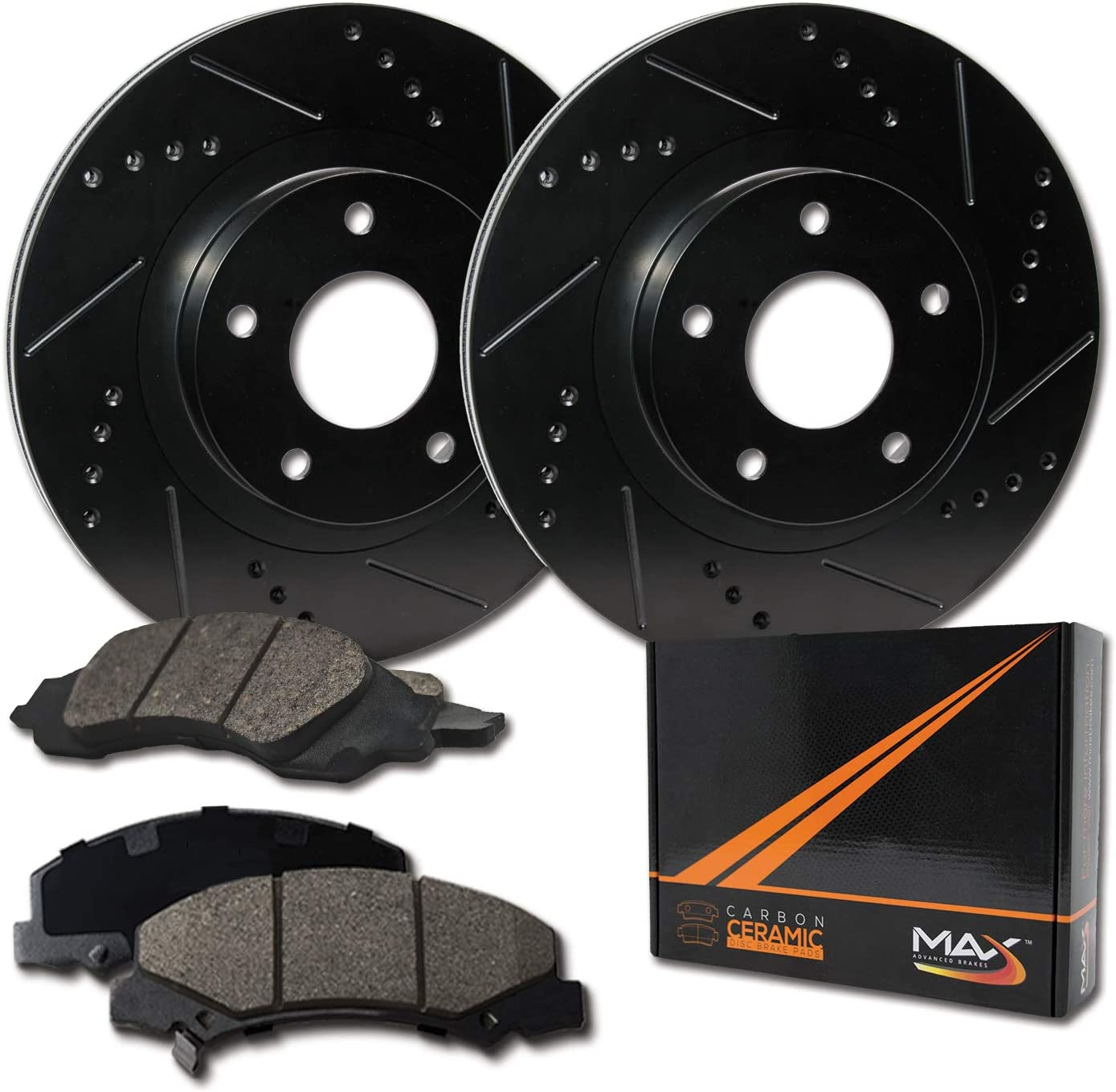 Front Max Tulsa Mall Brakes Elite Lowest price challenge XDS Rotors KT0 Pads with Carbon Ceramic