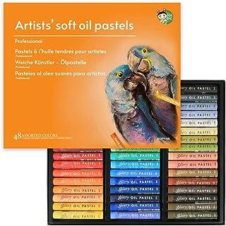 پاستیل روغن نرم غیر سمی HASHI مخصوص هنرمند و حرفه ای ، مجموعه ای از 48 رنگ مختلف
