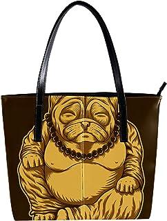 Lorvies - Borsa a tracolla in pelle PU per cani e carlino Budai