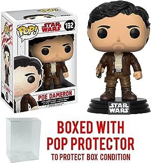 Funko Pop! Star Wars: The Last Jedi - Poe Dameron #192 Vinyl Figure (Bundled with Pop BOX PROTECTOR CASE)