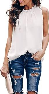 Women Summer Halter Chiffon Tank Tops Casual Sleeveless Shirts Blouses