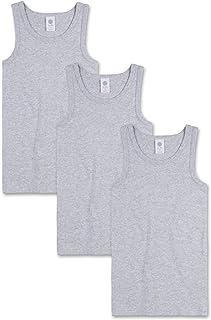 Sanetta Camiseta interior para niño en pack de tres de algodón orgánico. Fabricado en Europa.