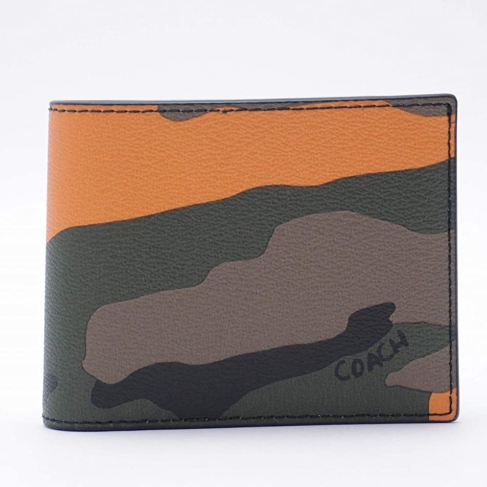 重力酸素コンデンサー[コーチ] COACH 財布 メンズ 二つ折り財布 迷彩柄 カモフラージュ レザー 32438TAG [アウトレット品] [並行輸入品]
