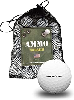 Titleist AVX Near Mint Recycled Used Golf Balls 30-Ball Ammo Bag