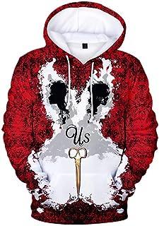 VEPOSE Unisex Long Sleeve 3D Funny Print Sweatshirts Graphic Pullover Hoodie