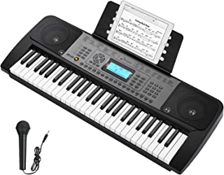 Donner DEK-510 54 Keys Electronic Keyboard Portable Electric Music Piano with Full-Size Keys for Beginners, Include a Musi...