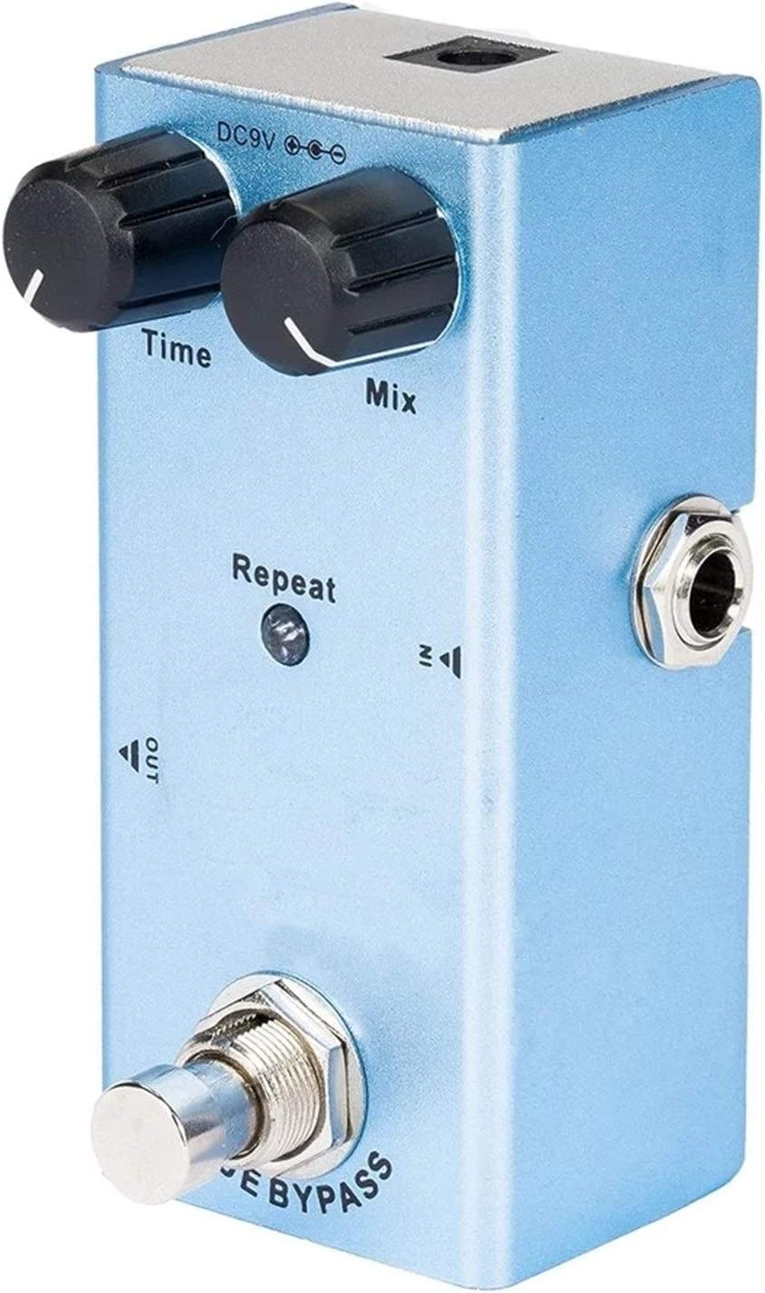 CuteLife Pedal de Guitarra Distorsión de crujido de Pedal de Efecto UITAR con Verdadero Bypass Azul para Guitarra Eléctrica (Color : Azul, Size : 9.1 x 3.2 x4cm)