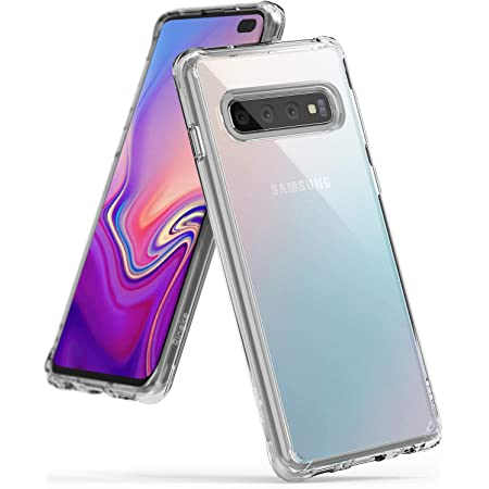 Ringke Fusion Compatible con Funda Galaxy S10 Plus, Carcasa Protección Resistente Impactos - Clear