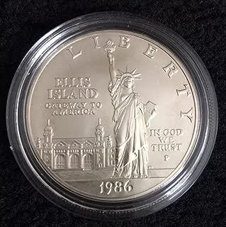 1986 S 1986 Statute of Liberty Ellis Island Silver Commemorative Dollar $1 Uncirculated BU US Mint