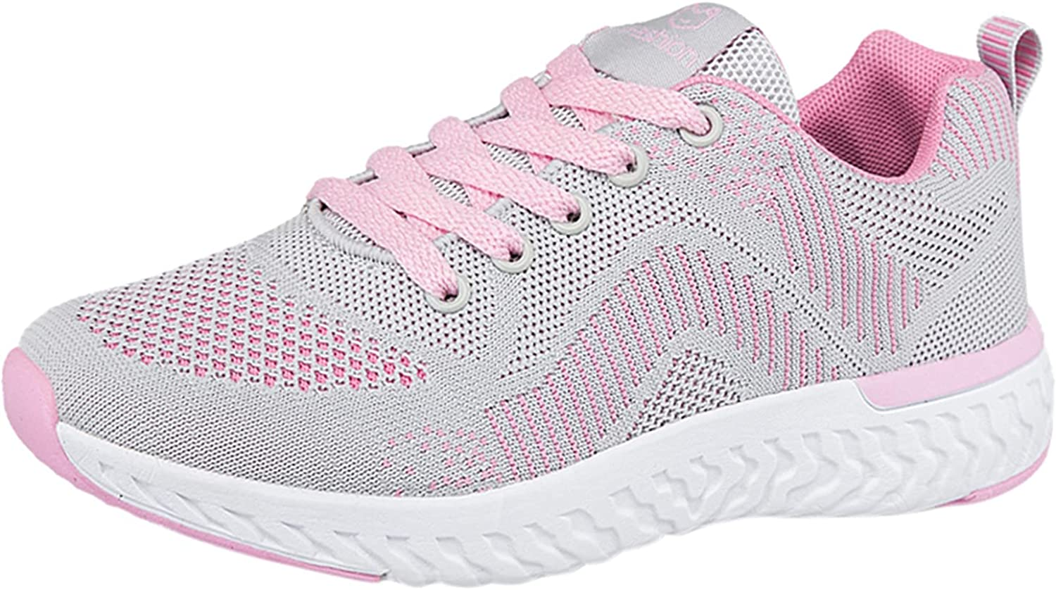 USYFAKGH Sneakers for Women,Lightweight Comfortable Mesh Lace-Up Sports Shoes New Flying Woven Casual Wild Running Shoes Soft Bottom Breathable Sneakers