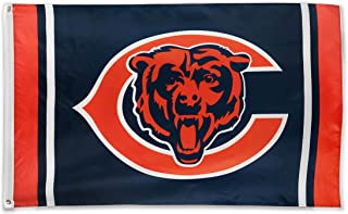 Winner-Sports NFL Chicago Bears 3x5 Foot Polyester Flag - Vivid Color and Double Stitched - Super Bowl Banner with Brass Grommets 3 X 5 FT