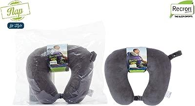 Recron Certified Nap Travel Fibre Pillow - 28cm x 30cm, Multicolour