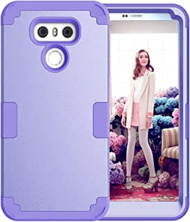 LG G6 Case, KAMII 3in1 [Shockproof] Drop-Protection Hard PC Soft Silicone Combo Hybrid Impact Defender Heavy Duty Full-Body Protective Case Cover for LG G6 (Light Purple)