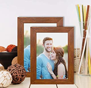 Art Street Synthetic Wood Wall & Table Photo Frame (Brown)