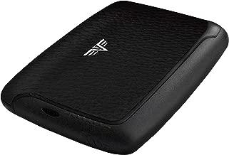 TRU VIRTU Leather Card Case   Business Cards Holder   Credit Card Holder   Rfid Safe Leather Line (Black Pebble)