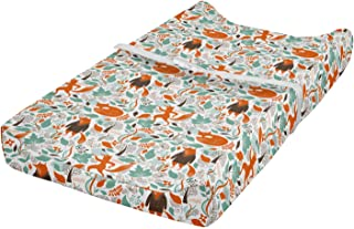 Ambesonne Fox Changing Pad Cover, Funny Sleeping Fashion Fox Falling Autumn Leaves Graphic Garden, Soft Cover for Diaper C...