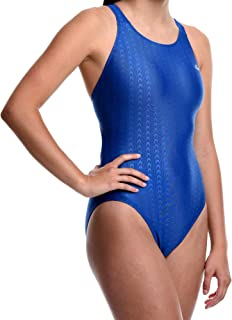Flow Girls Accelerate Swimsuit - One Piece Racerback Competition Swim Suit Size 23 to 30 in Black, Navy, and Blue