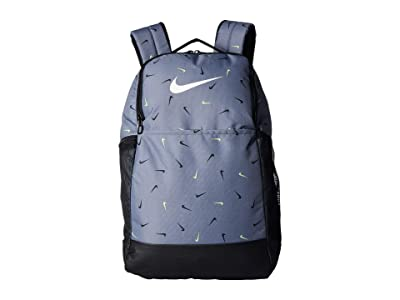 Nike Brasilia All Over Print 2 Medium Backpack 9.0 (Cool Grey/Black/White) Backpack Bags