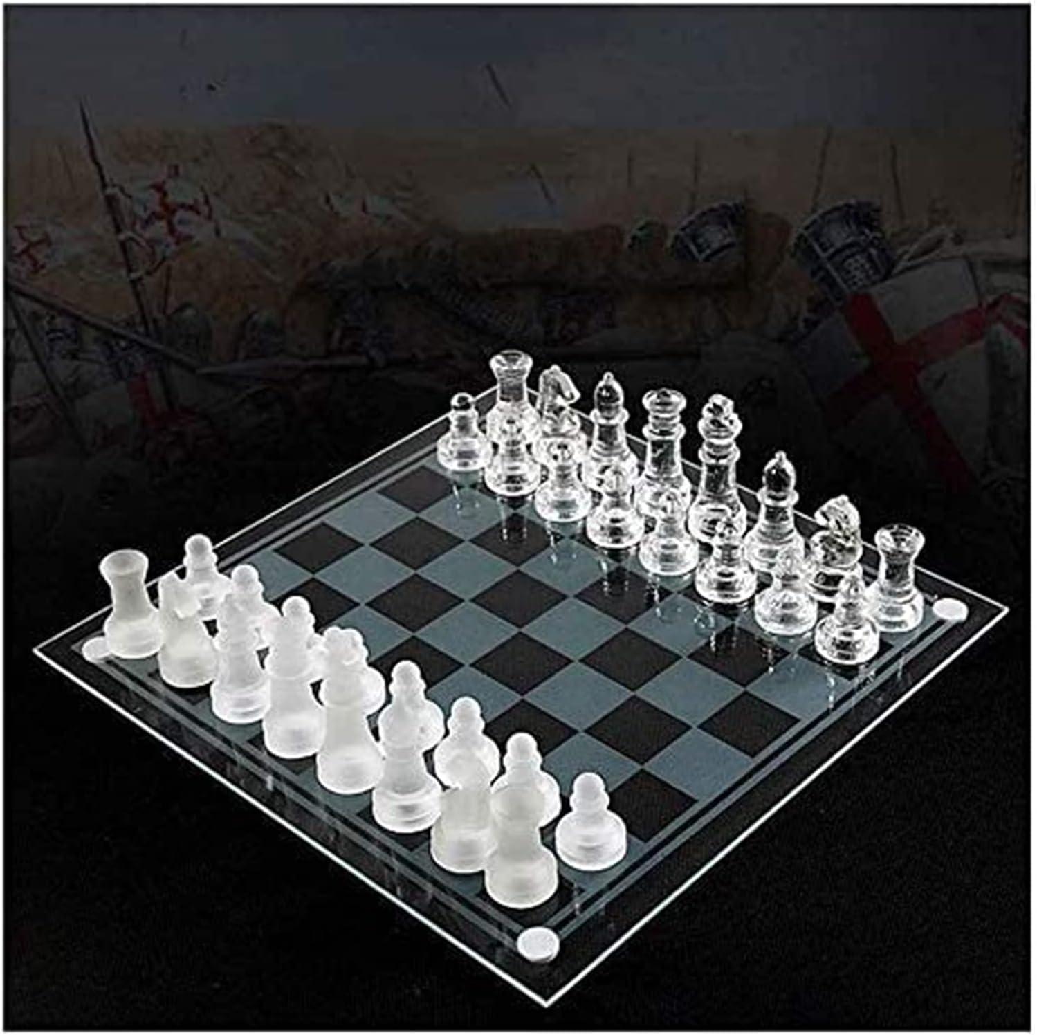 MTCWD Chess Set Games Travel Adults Dedication Board Max 84% OFF Glas Kids K9