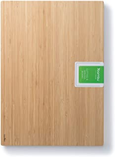 "bambu, Undercut Bamboo Cutting & Serving Board, Food-Safe Kitchen Tool - Extra Large, 17"" x 12"""