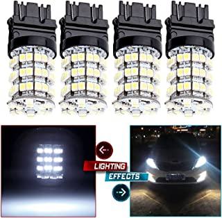 OCPTY 4 Pack Xenon White 3157 LED Light bulbs 3057 3457 4157 Replacement fit for Front and Rear Turn Signal Light