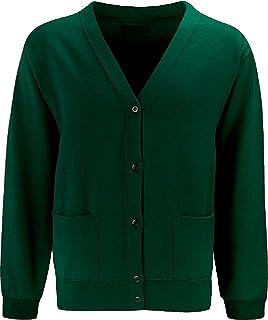 Skooleez Uniform Cardigan Bottle Green 11-12 Years Pk2