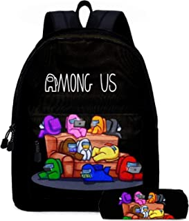 Juego de mochila escolar con diseño de Game AMONG US para niños y niñas, 5 colores