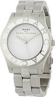 ساعة يد من مارك باي مارك جيكوبس للنساء– بميناء ابيض وسوار من الستانلس ستيل- موديل MBM3048