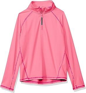 Amazon Essentials - Giacca sportiva da ragazza con mezza zip