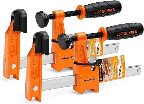 2021 Jorgensen 2-Pack Steel Bar Clamp discount Set, 4-inch Light Duty, outlet sale 300 Lbs Load Limit, for Woodworking outlet online sale